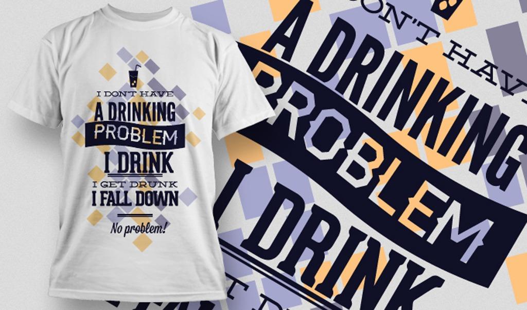 英文版式t恤图案设计