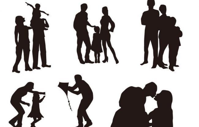 一家人 一家人矢量素材 一家人模板下载 三个人 温馨一家 家人 爸爸图片