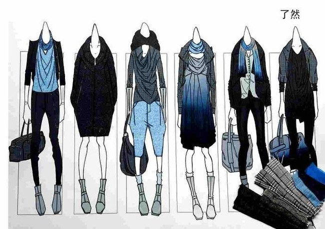 服装手绘效果图 服装手绘效果图 服装手绘效果图 服装设计裙装设计