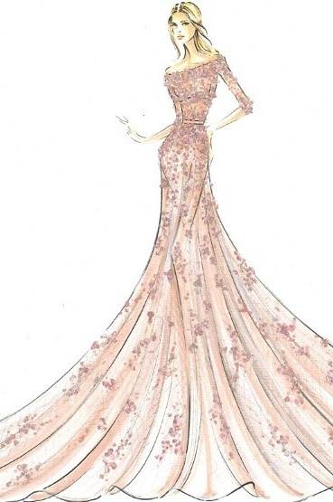 服装设计 服装手稿 裙子设计 > 服装效果图  下一张> [版权