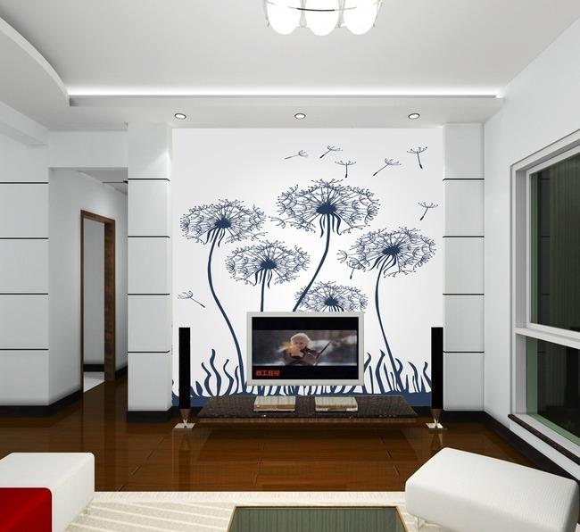 简约电视墙壁画