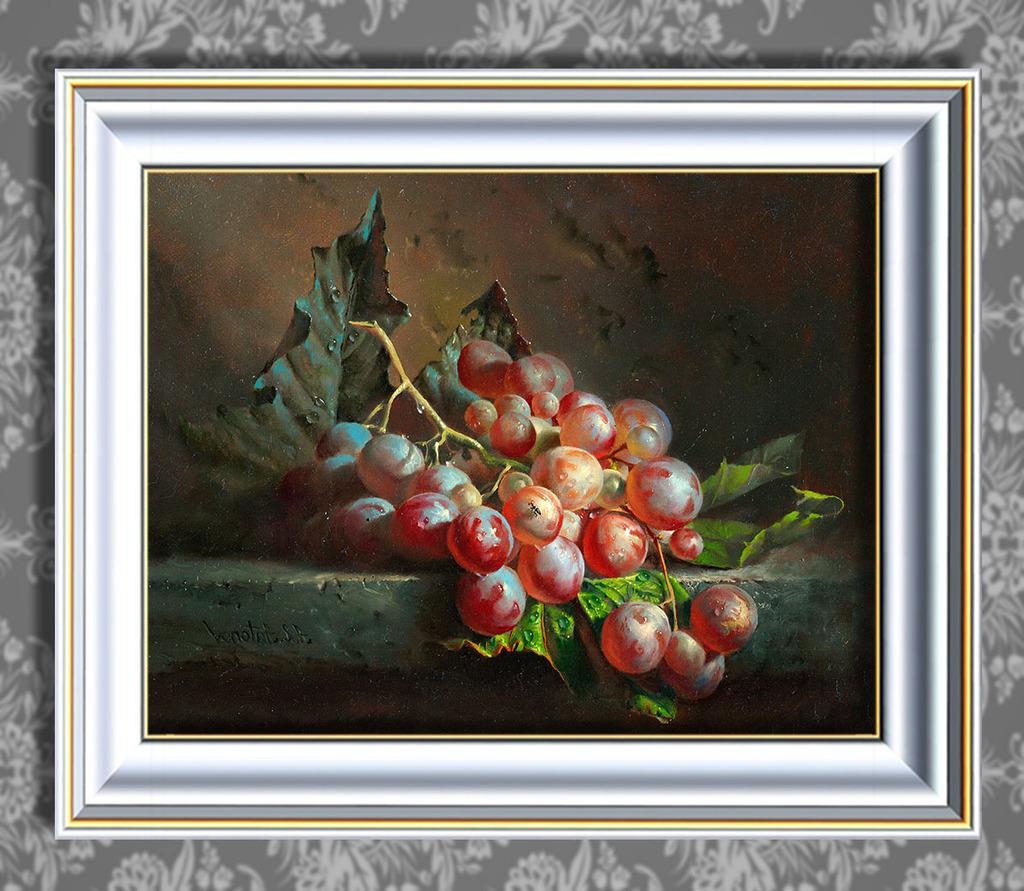 葡萄/垂涎欲滴的葡萄超写实主义油画