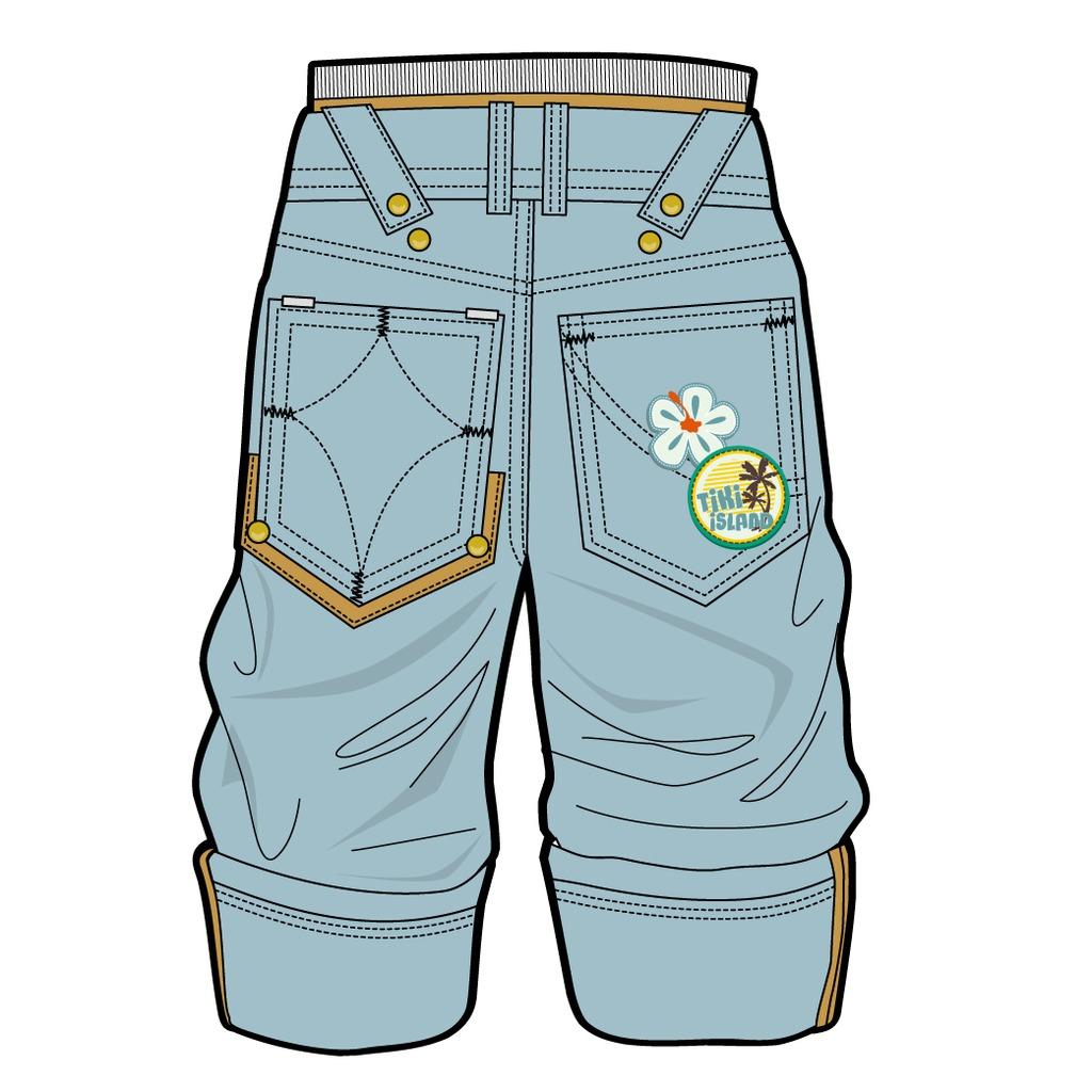 童装裤子款式图图片
