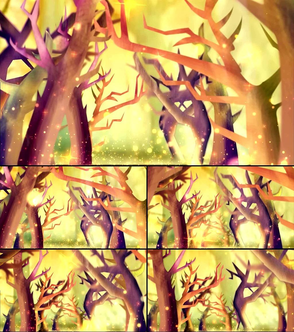手绘卡通森林演出动态背景