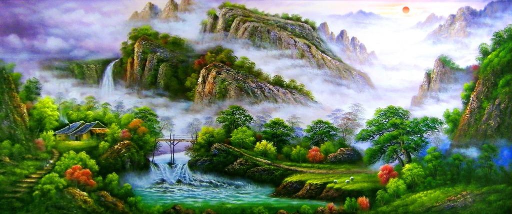 高清图-山水风景画
