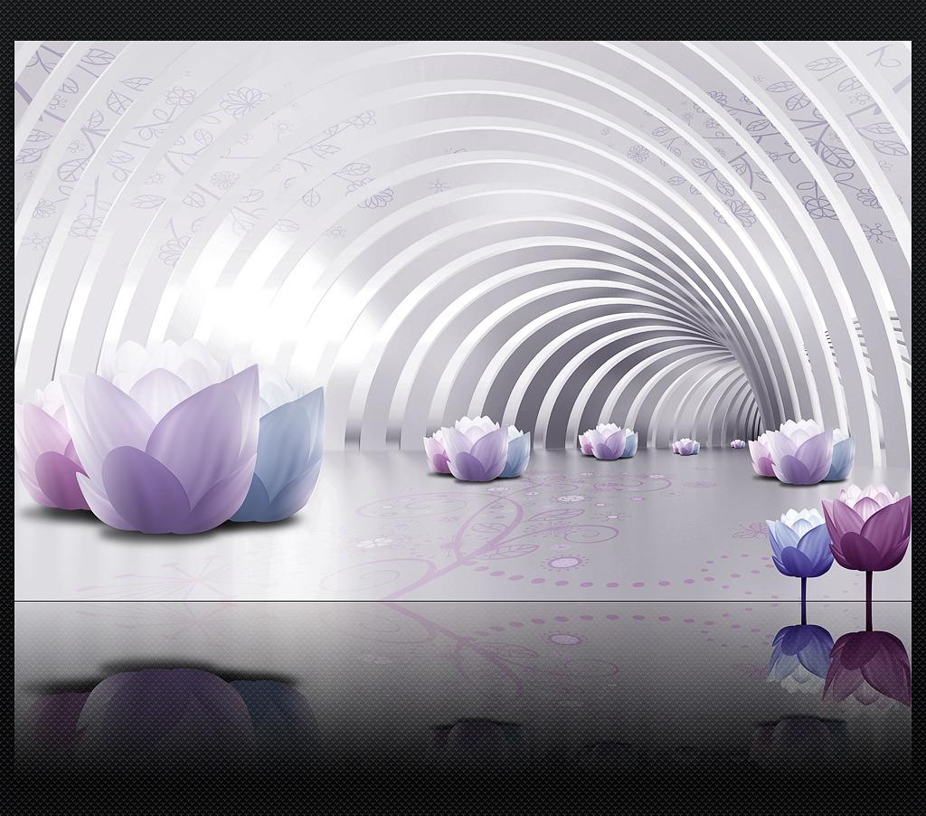 唯美 空间 背景墙 装饰画/唯美室内空间延展3d客厅电视背景墙装饰画
