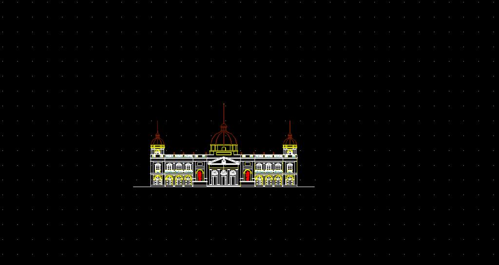 cad欧式经典建筑立面效果