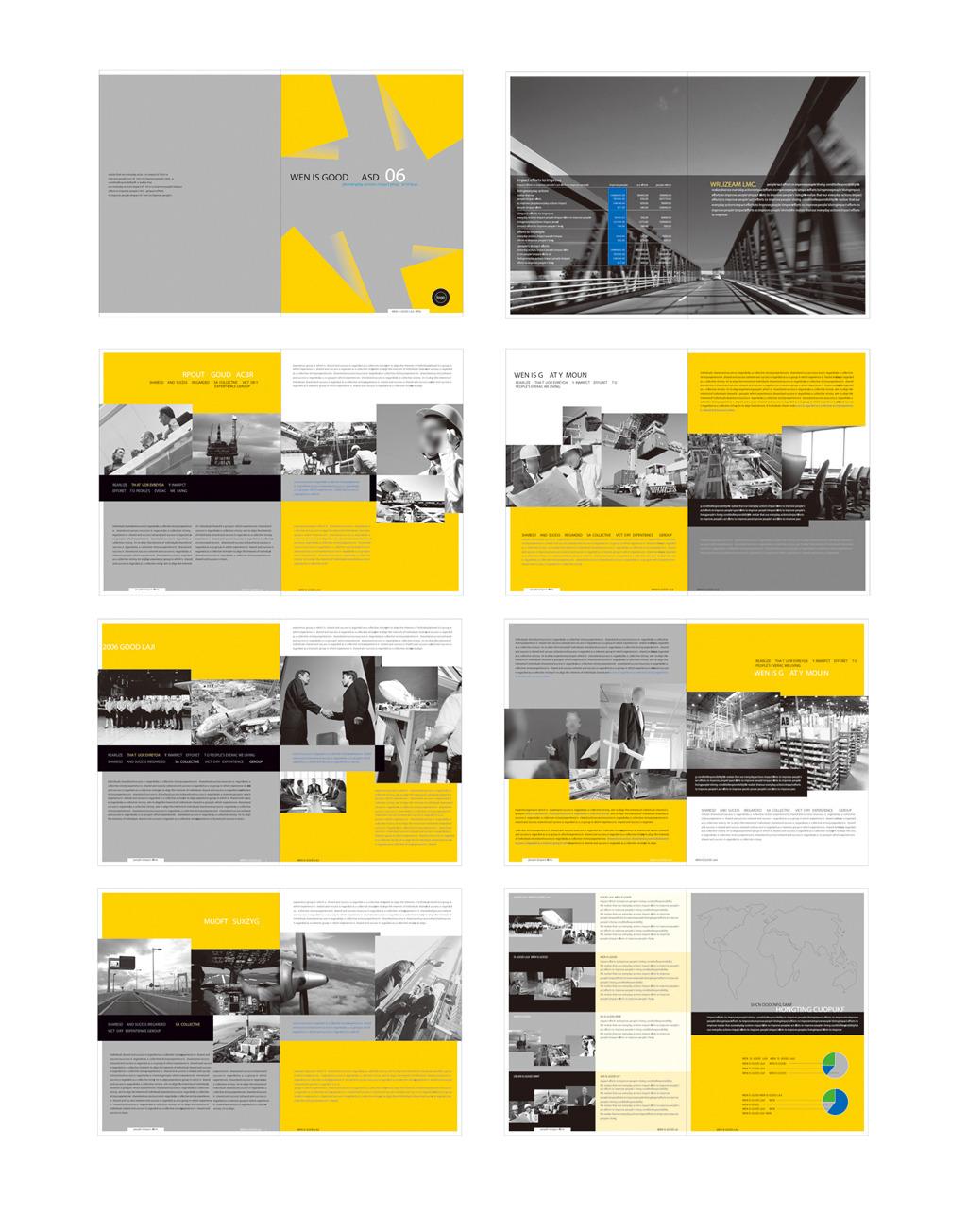 桥梁工程建设画册彩页标书设计模板