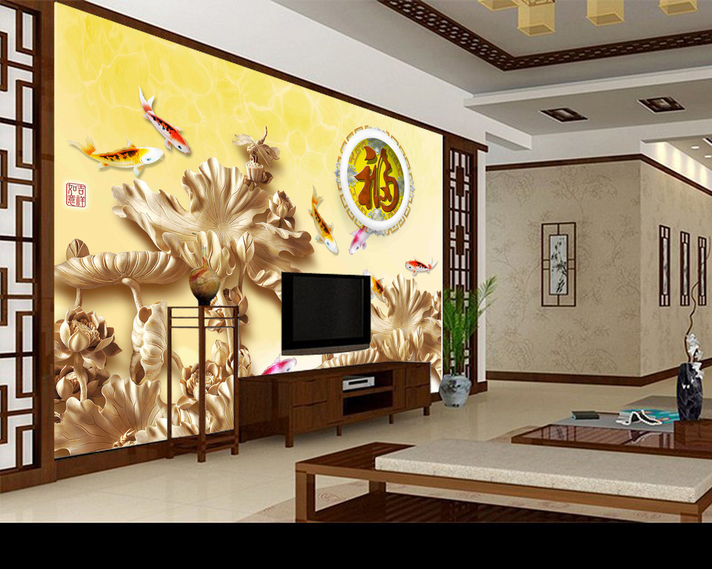 3d木雕背景墙模板下载(图片编号:12062441)