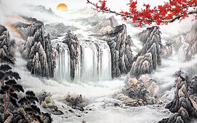 壮丽山河电视背景墙