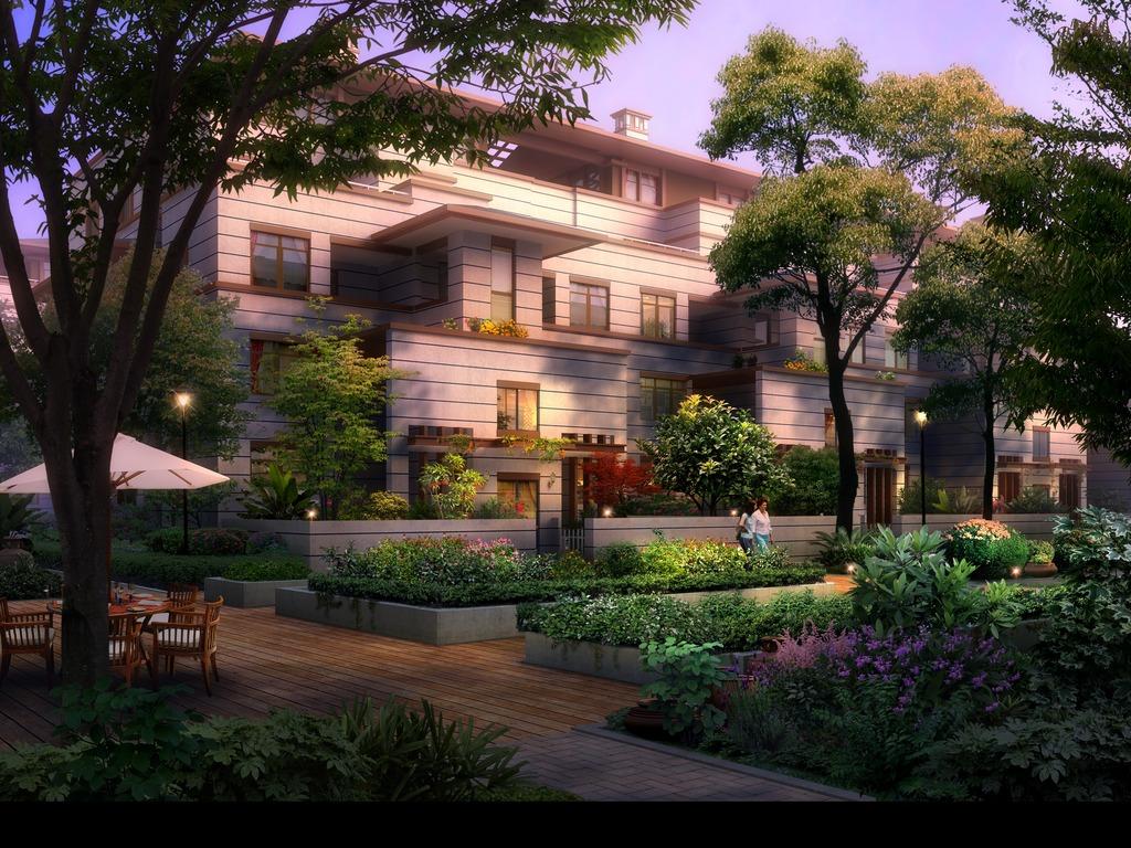 园林景观设计效果图图片下载 园林 景观设计        psd 欧式景观