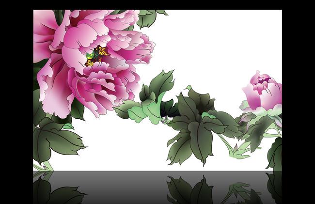 墙纸 沙发背景 现代 简约 浪漫 时尚室内装饰图片 唯美 百合 牡丹