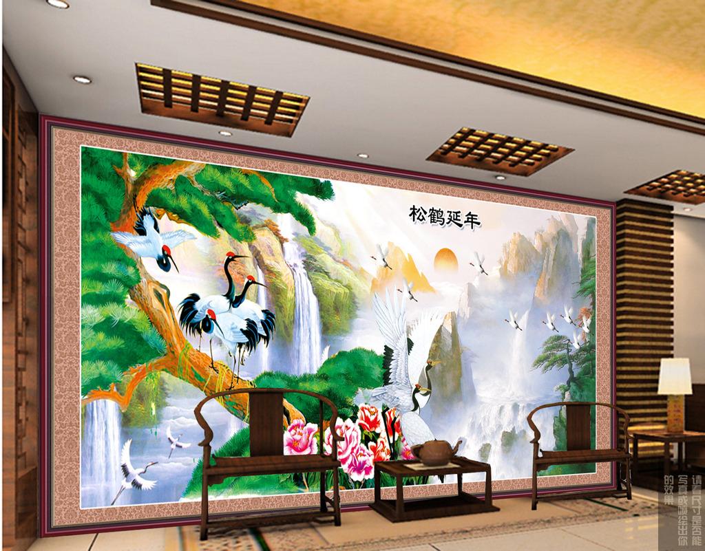 饭馆 面食 画 墙 手绘