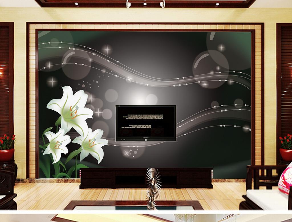 客厅背景画