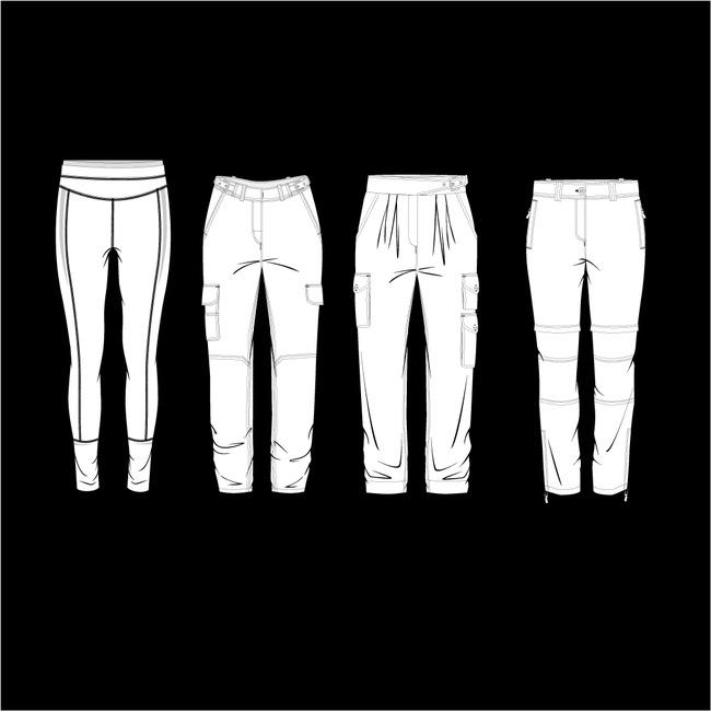 服装手绘稿设图片下载服装手绘稿设计矢量图 裤子手绘设计 短裤手绘