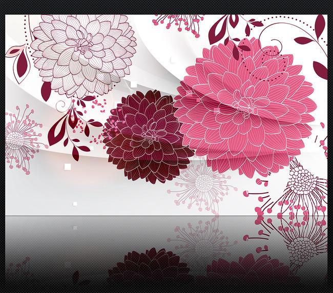 我图网提供精品流行手绘线描花朵3D客厅电视背景墙装饰画素材下载,作品模板源文件可以编辑替换,设计作品简介: 手绘线描花朵3D客厅电视背景墙装饰画,模式:RGB格式高清大图,使用软件为软件: Photoshop CS6(.PSD)