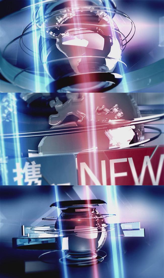 新闻联播栏目片头ae模板