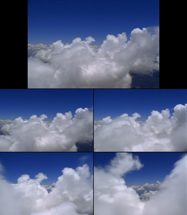 蓝天白云动态云彩视频