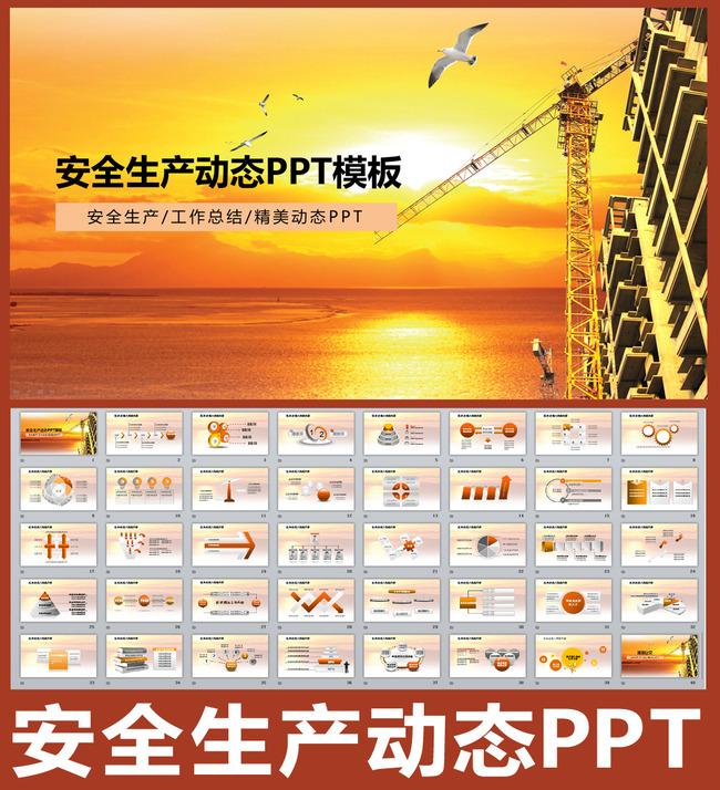 安全生产动态ppt模板