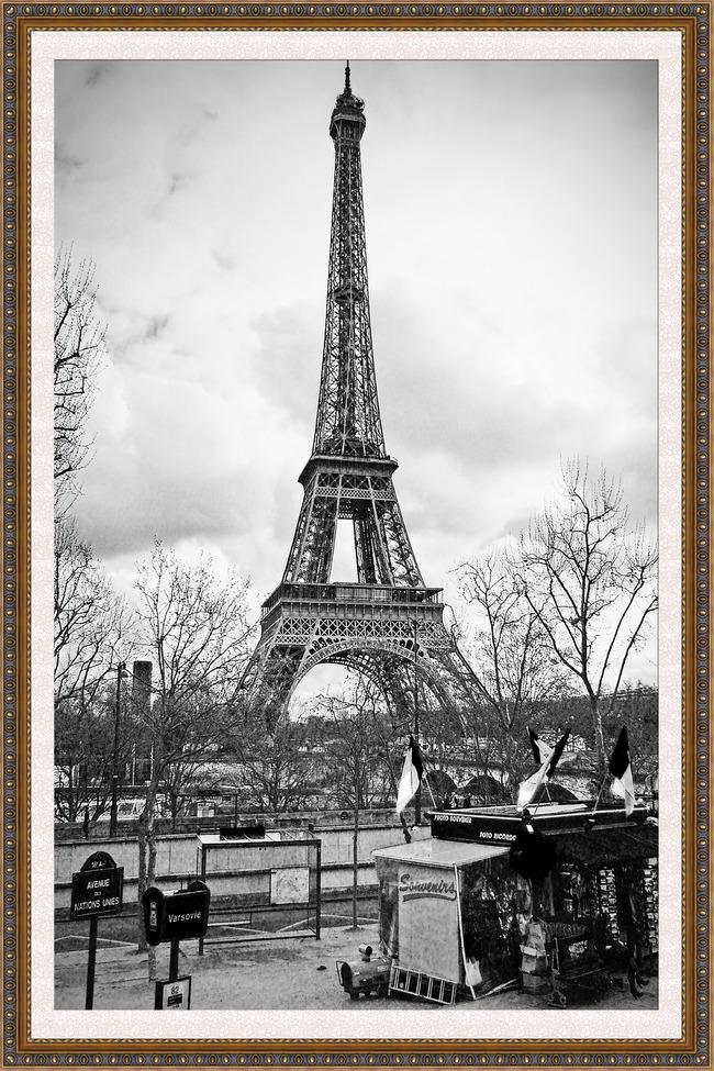 欧式建筑装饰画巴黎铁塔唯美装饰画
