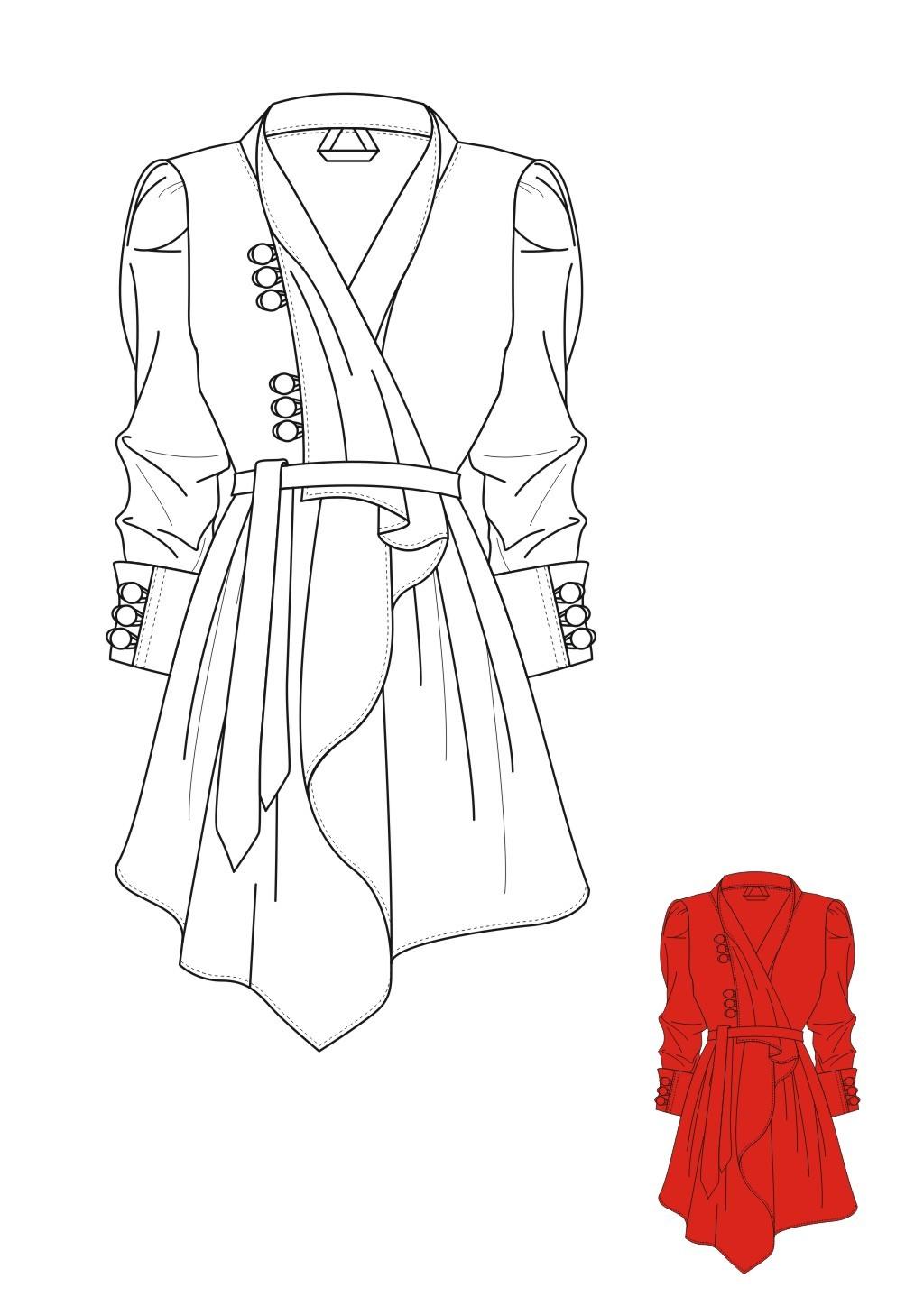 服装设计 服装手稿 上衣设计