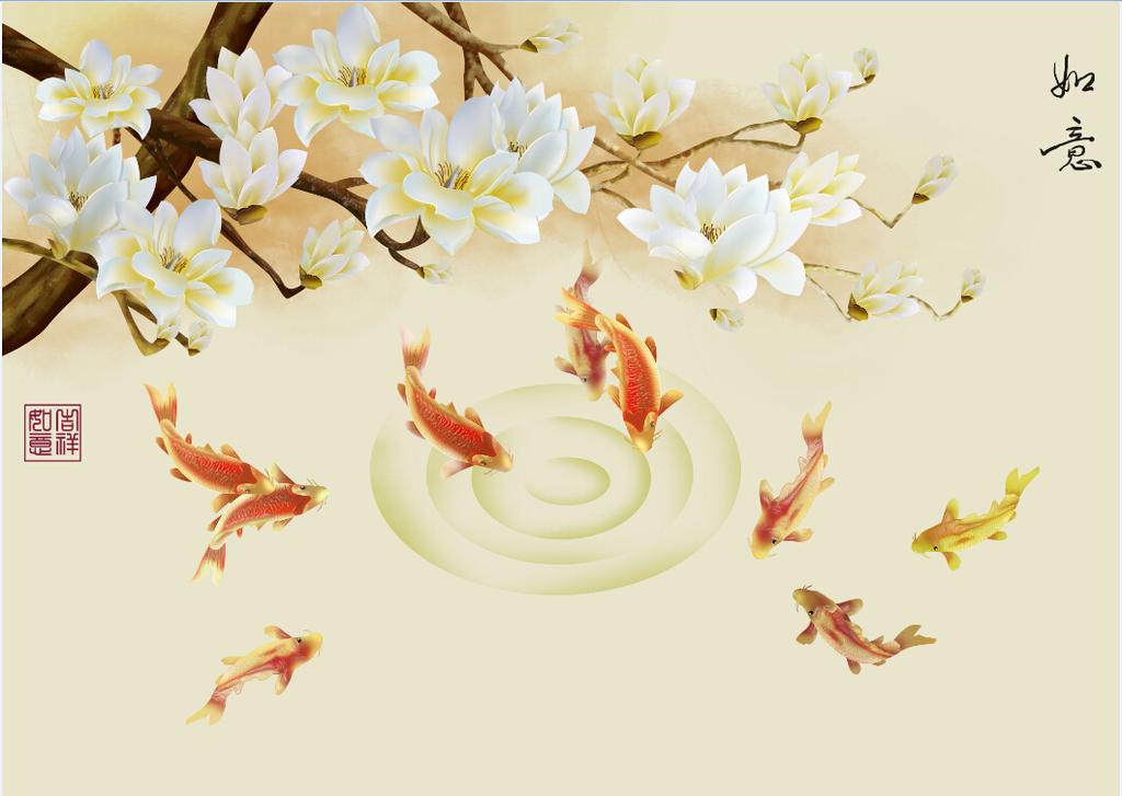 背景墙 艺术玻璃/[版权图片]浮雕艺术玻璃背景墙如意
