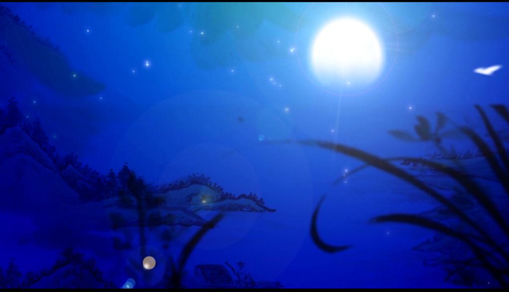 中国风夜晚月亮视频素材