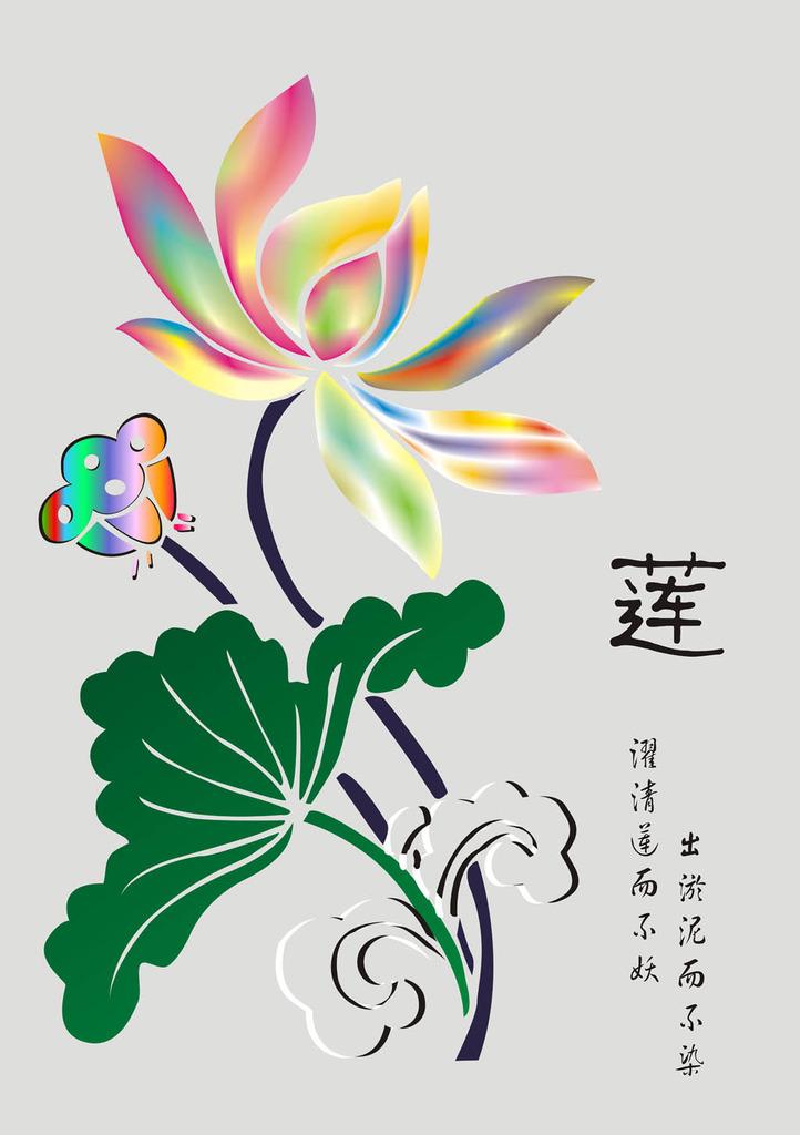沙发背景墙 瓷砖背景墙 电视墙 形象墙 古典风格 中国风 手绘莲花 彩