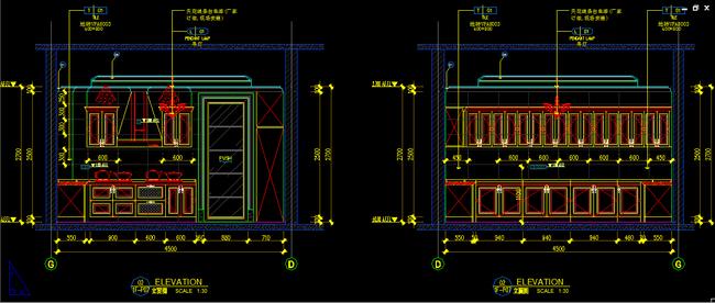 立面设计图纸图片下载别墅厨房设计