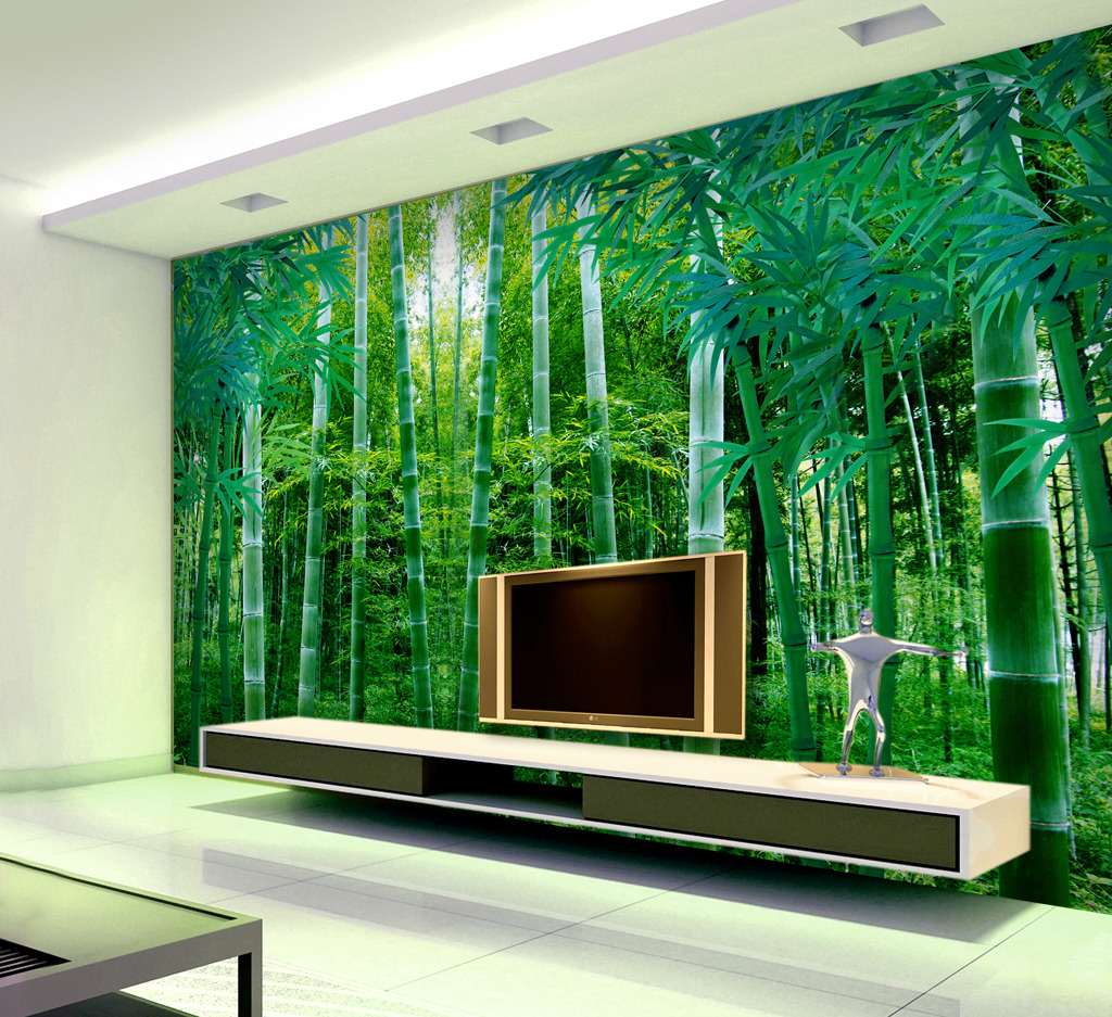 竹林电视背景墙