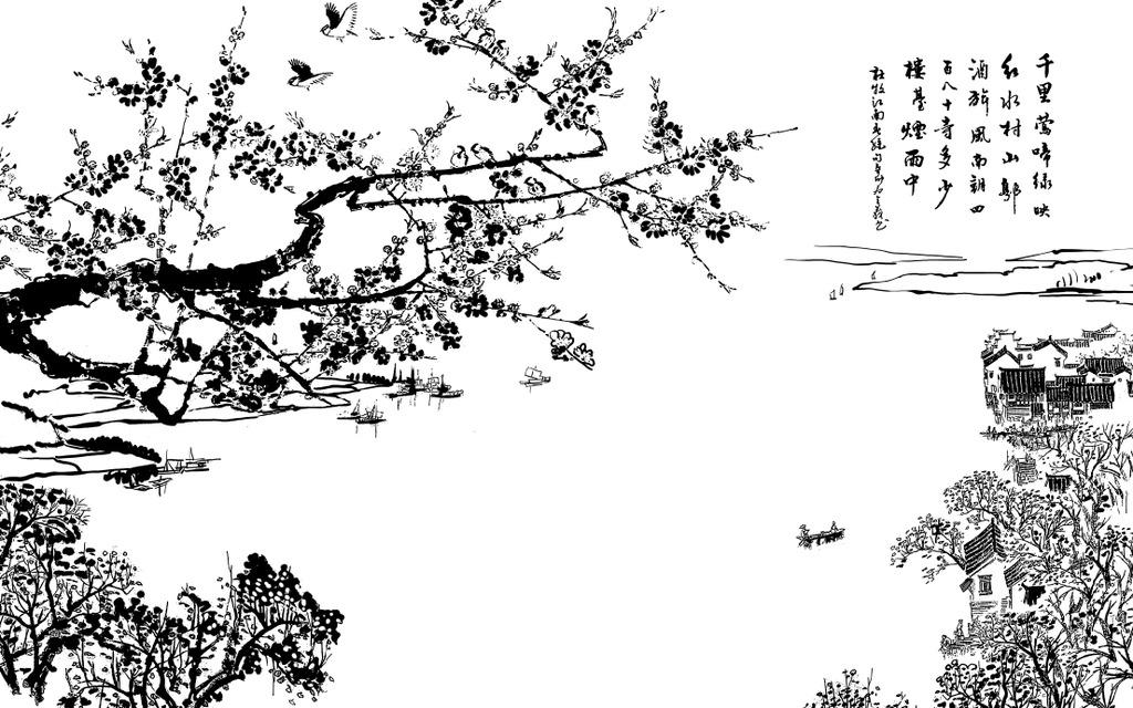 我图网提供精品流行中国水墨画电视背景墙江南春早素材下载,作品模板源文件可以编辑替换,设计作品简介: 中国水墨画电视背景墙江南春早,模式:RGB格式高清大图,使用软件为软件: Photoshop CS3(.PSD)