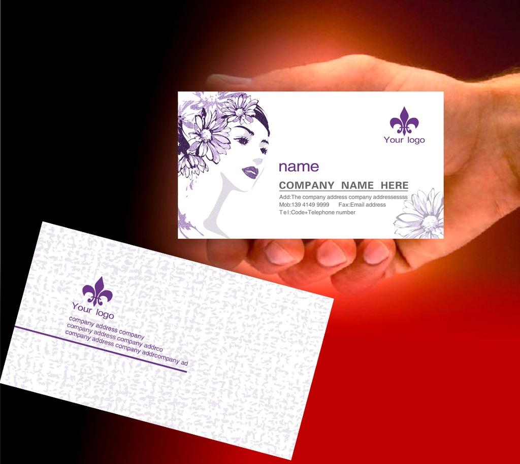 时尚美容美发店名片设计模板下载 时尚美容美发店名片设计图片下载