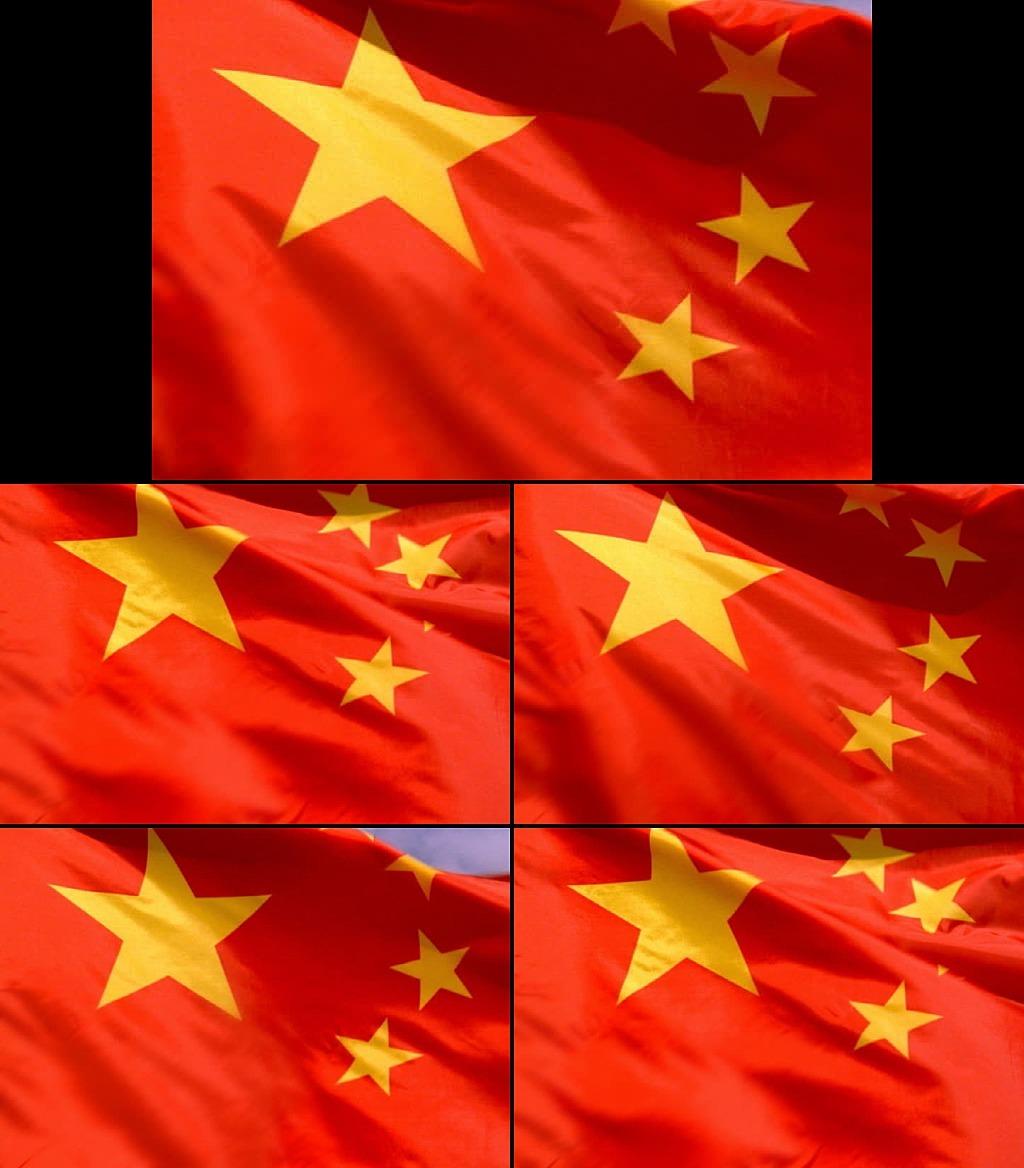旗帜五星红旗飘扬视频素材_乐乐简笔画