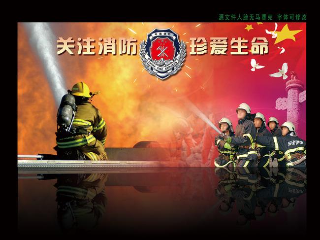 消防安全意识宣传海报展板
