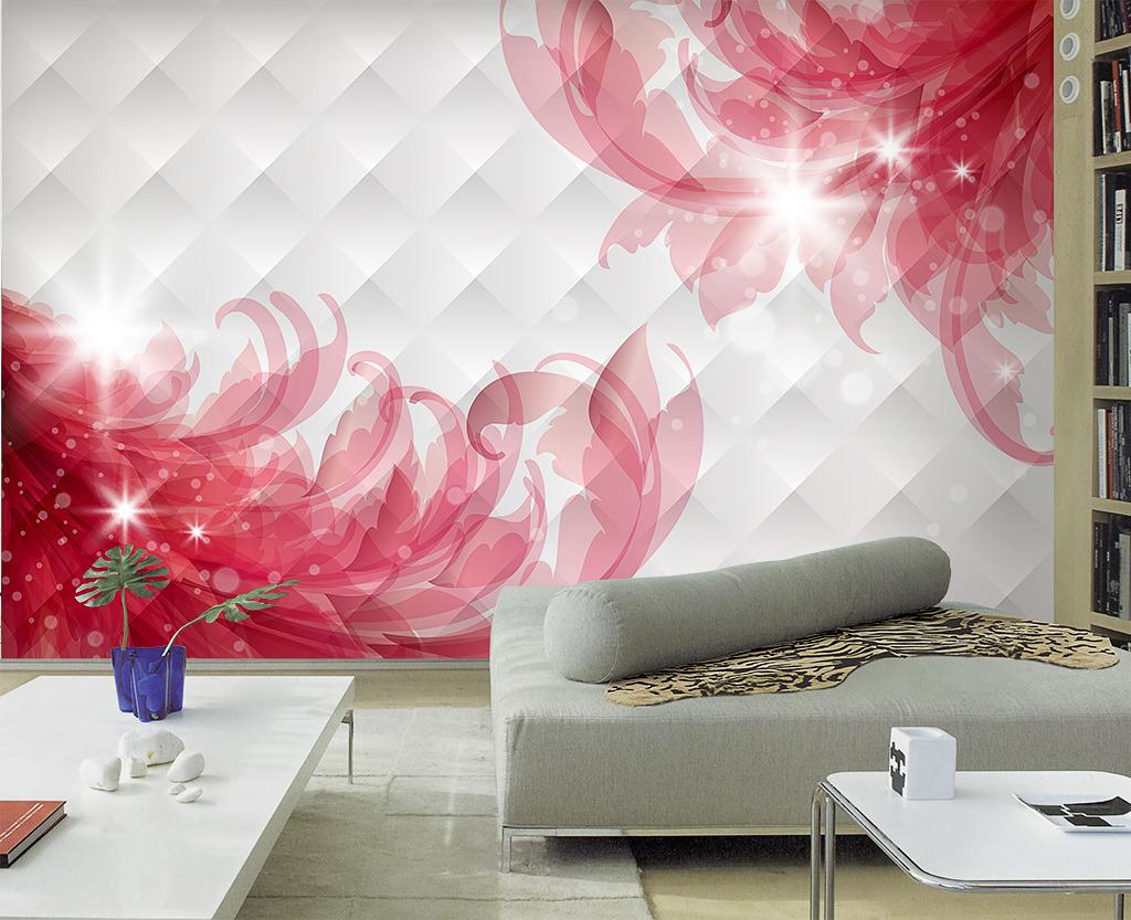 背景墙 电视 客厅 装饰画/3D梦幻客厅电视背景墙花卉装饰画