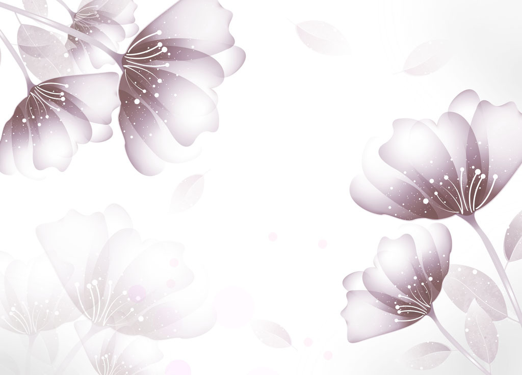 创意手绘花朵壁画