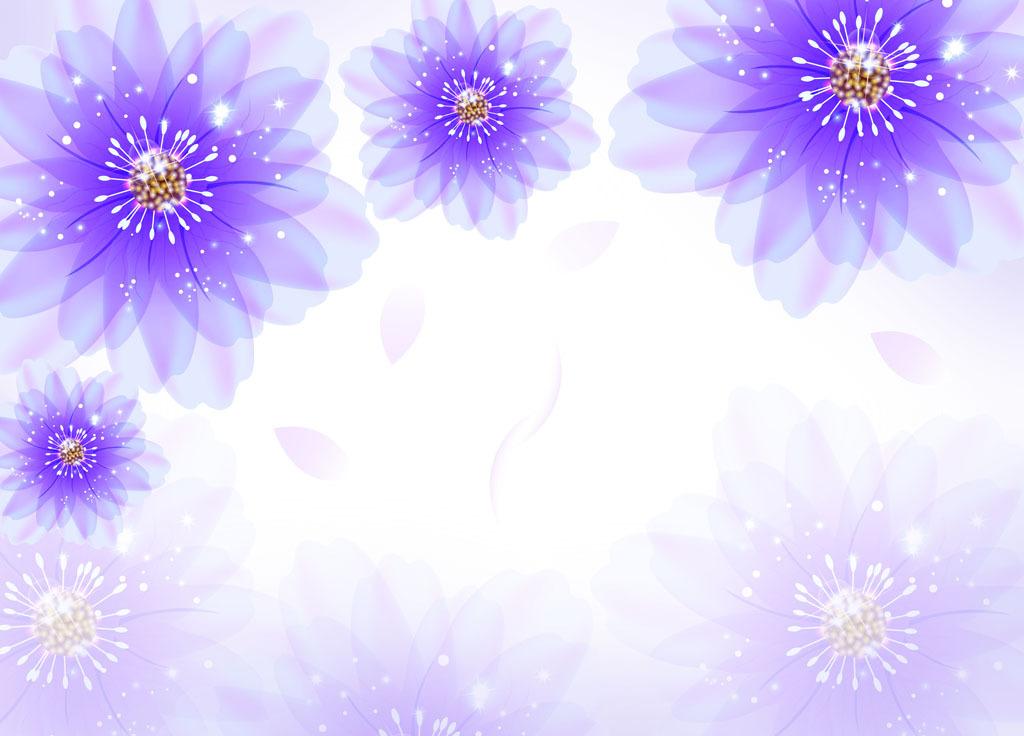 壁画手绘花朵图片