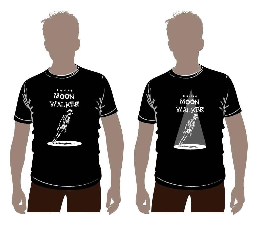 迈克尔杰克逊主题t恤设计图