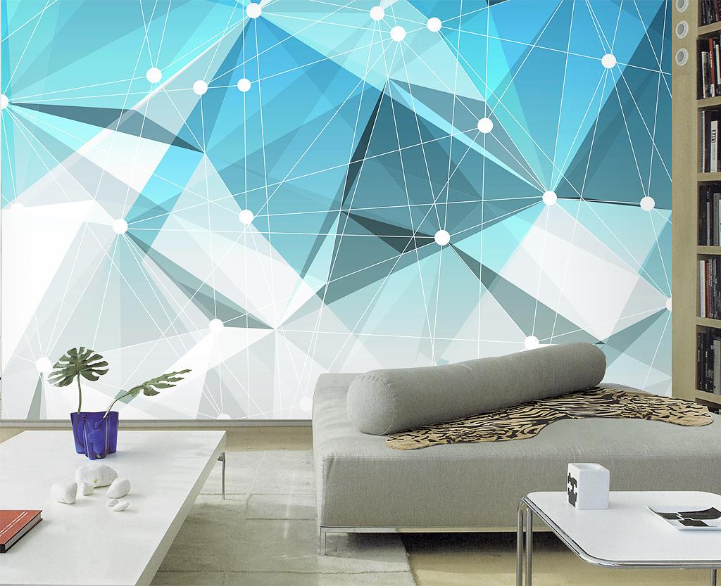 3d抽象立体几何客厅电视背景墙形象墙