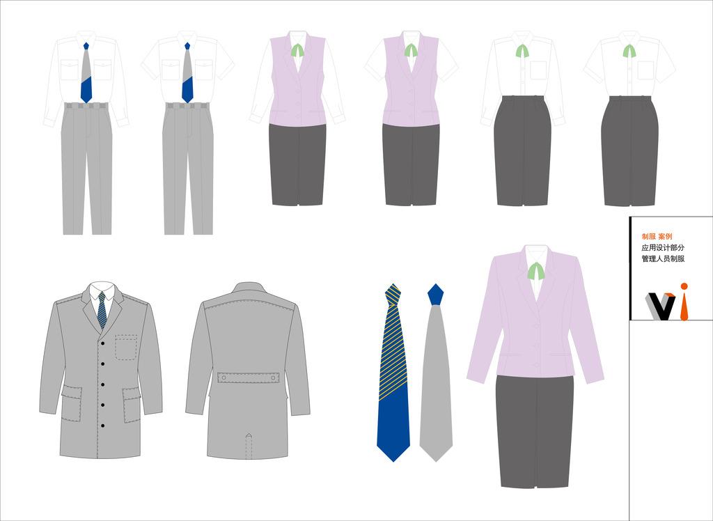 vi员工设计手稿 服装设计 服装设计稿 服装 西装 裙子 衣服