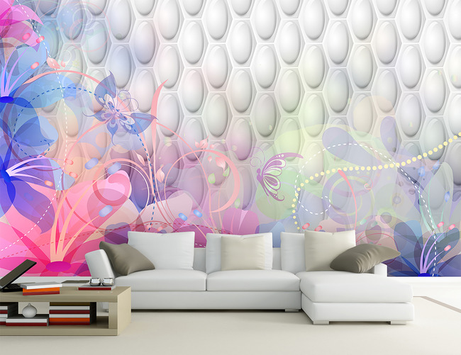 3d背景墙 墙砖 墙画 手绘墙