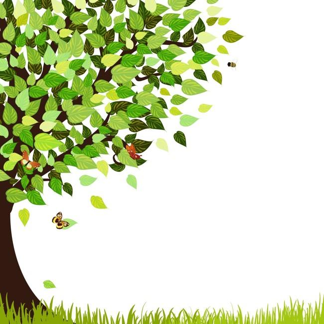 榕树手绘效果图