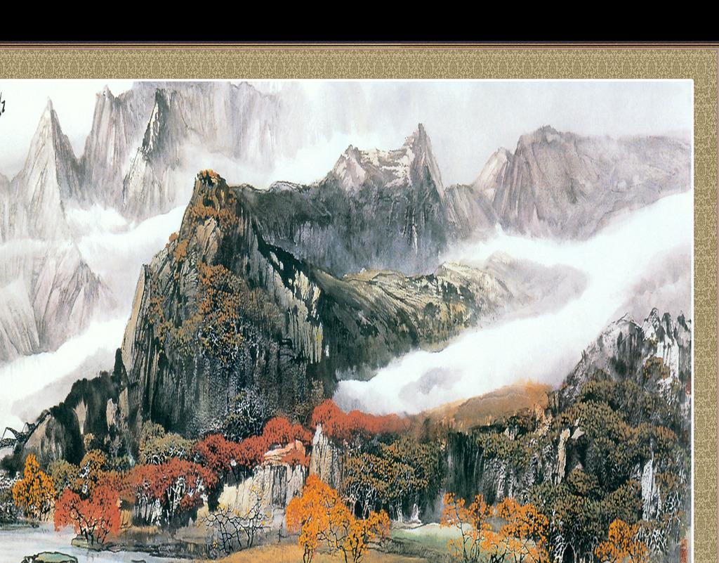 国画山水画模板下载(图片编号:12104399)