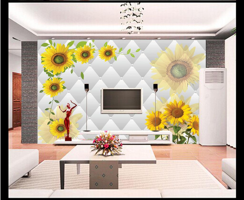 背景墙 电视 装饰画/[版权图片]时尚花朵花卉3D电视背景墙装饰画