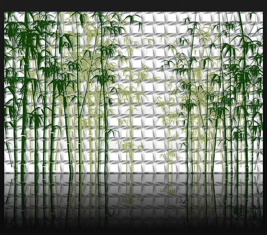 竹林电视背景墙 竹子 竹林 电视墙 背景墙 沙发背景墙 客厅背景墙 3d