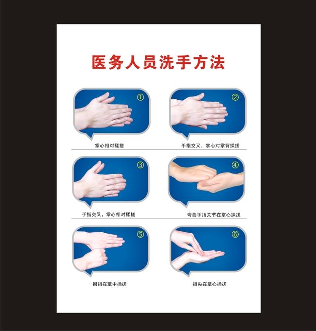 洗手流程图模板下载(图片编号:12110159)