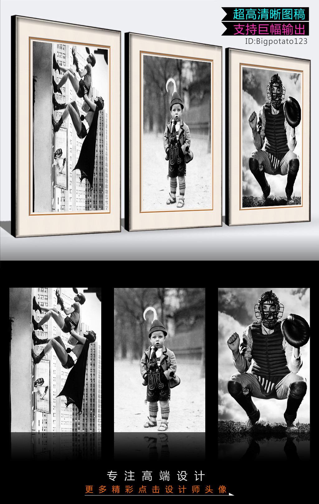 黑白有趣人物摄影