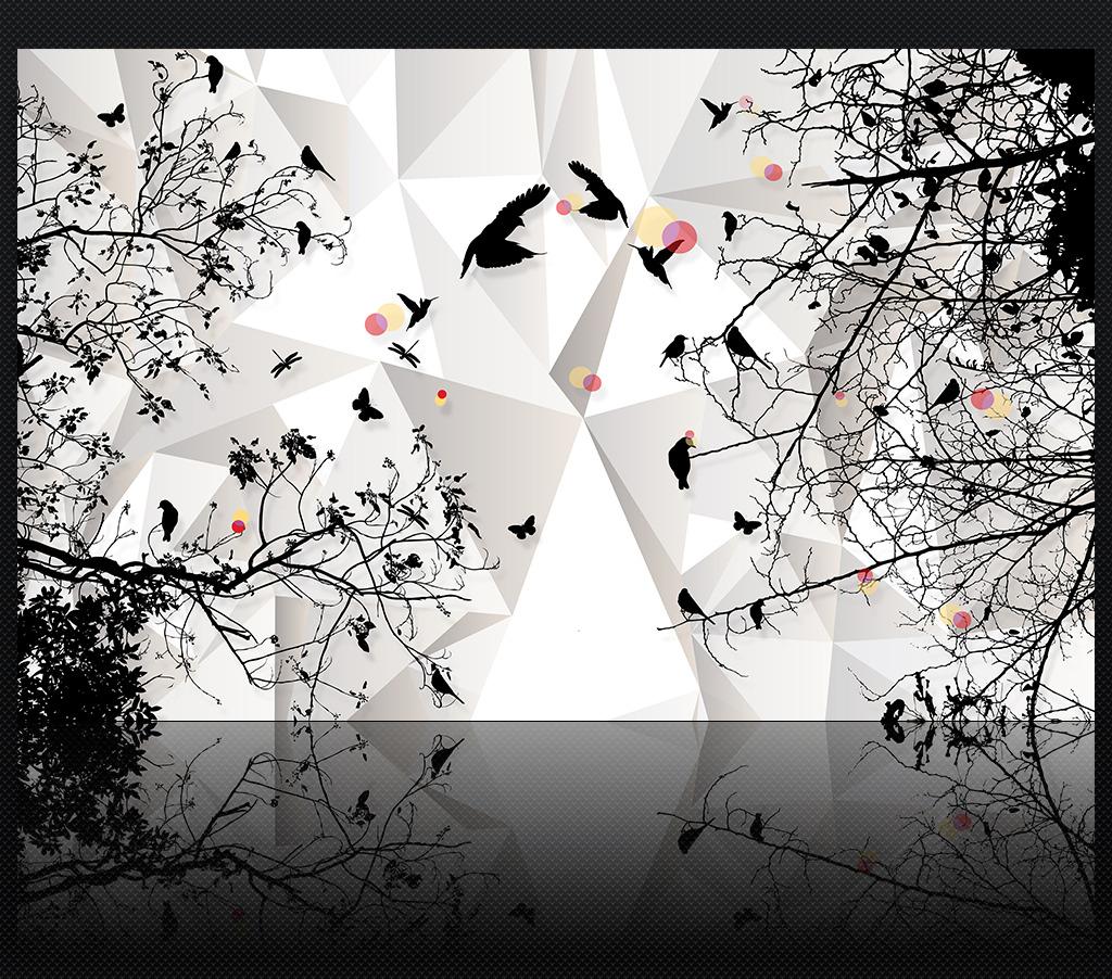 现代简约时尚剪影3d客厅电视背景墙装饰画图片