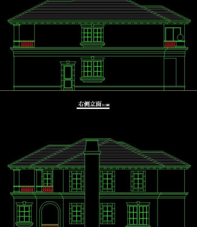 施工图 立面图 剖面图 室内设计 建筑设计 独栋 联排 双拼 叠加 别墅