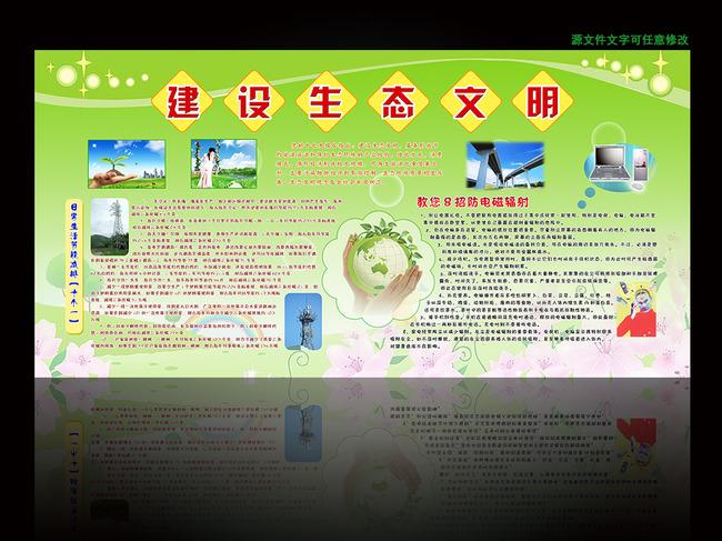 建设生态文明宣传海报展板